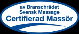certifierad massörbranschrådet svensk massage Stockholm